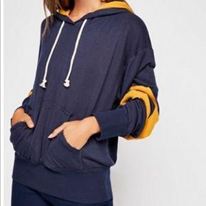 Free People slouchy lounge hoodie